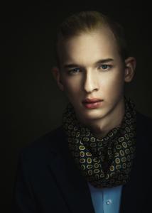 férfi portré, stúdiófotó